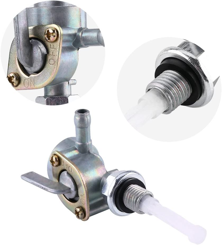 0.4 0.049in 10 1.25mm 14mm 0.6in Thread Size 0.4 0.049in Thread Size Cuque Universal Fuel Petcock Valve Pump Gas Gasoline Oil Petrol Tank Tap Shut-Off On//Off Switch Hex Nut 10 1.25mm