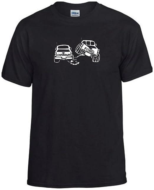 Chevy T Shirts >> Amazon Com Piss On Chevy T Shirt Funny Ford Fan Shirt