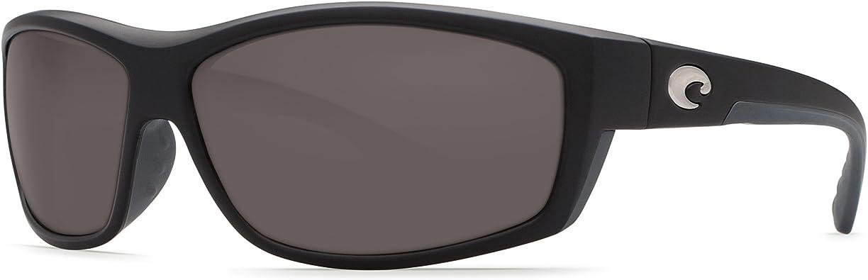 Costa Del Mar Saltbreak Black Frame Gray 580P Plastic Polarized Lens