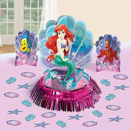 Disney Ariel Little Mermaid Birthday Party Table Decorating Kit (23 Pack), Multi Color. ()