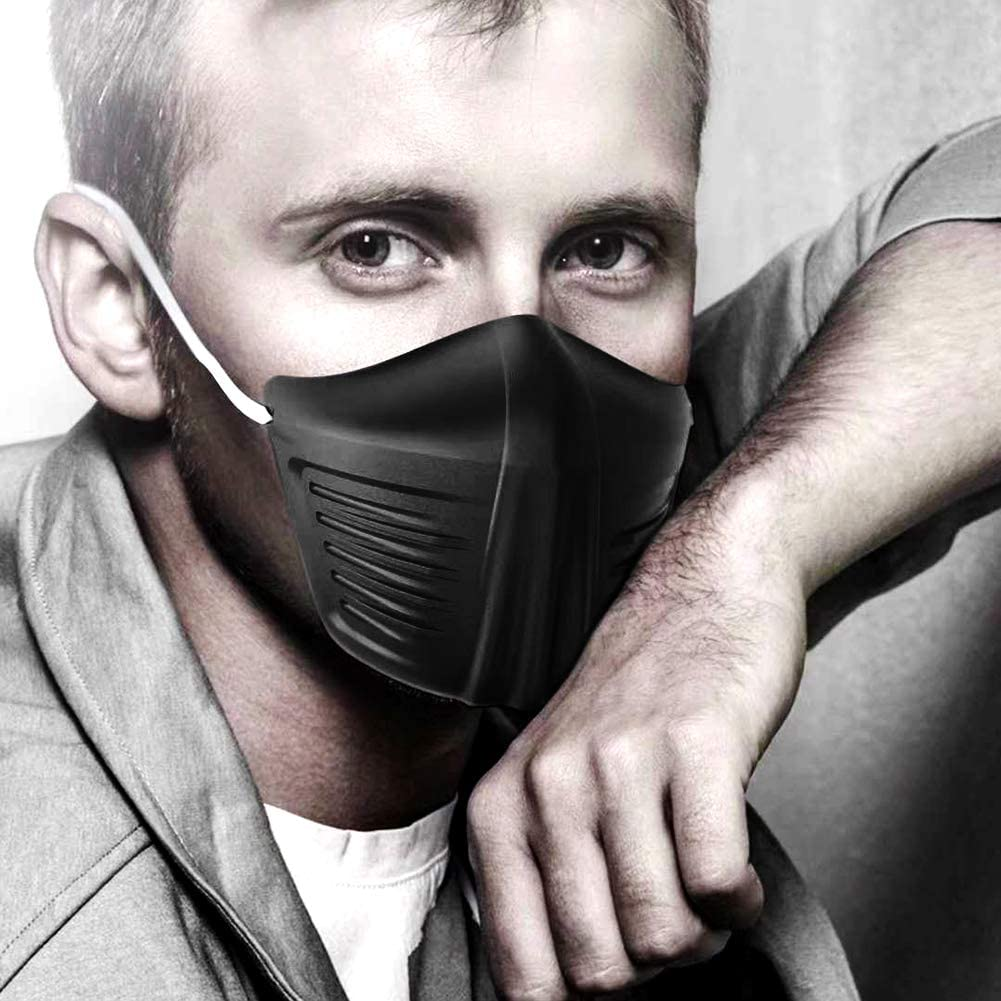 duotanyi Air Pollution Face Covers Breathable Anti Dust Wind Droplet Isolation Face Cover Mouth Protective Covers for C-O-V-I-D-19 Black