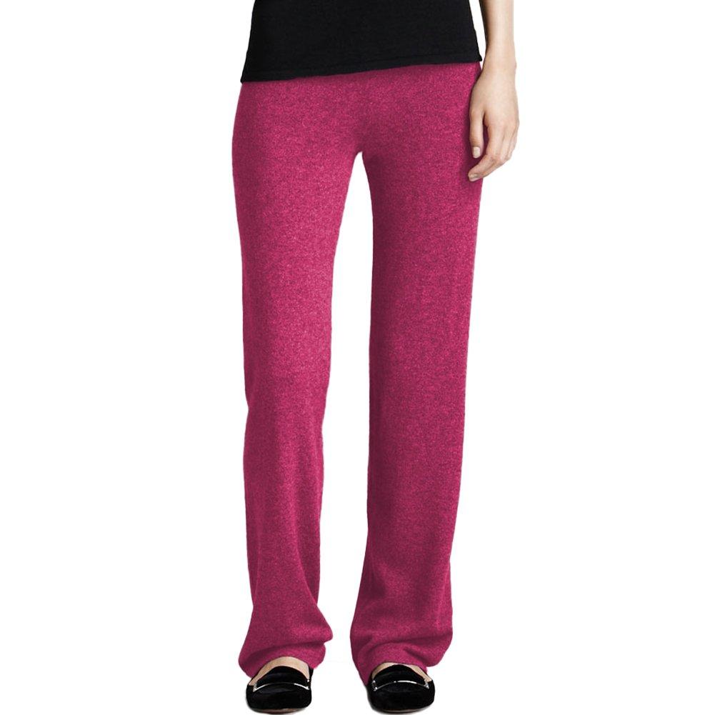 Pink 10 Parisbonbon Women's 100% Cashmere Pants
