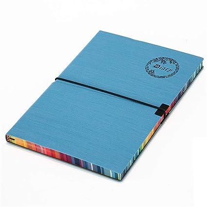 Cuaderno retro del arco iris en cuero suave - Cuaderno A5 ...