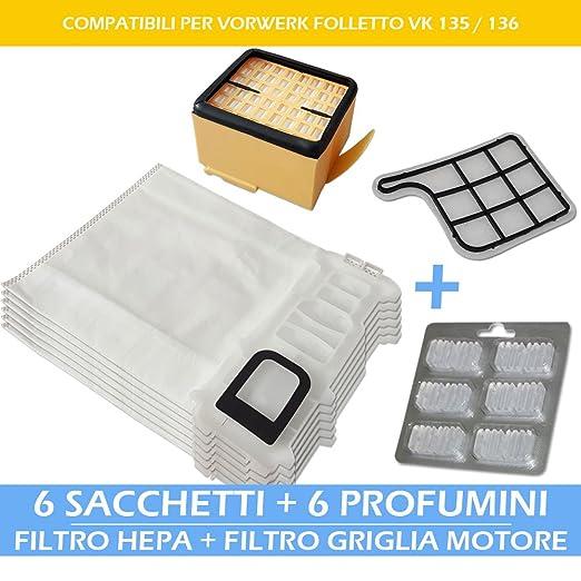 Premium Kit - Filtro rejilla Motor + Filtro HEPA + 6 ambientadores ...