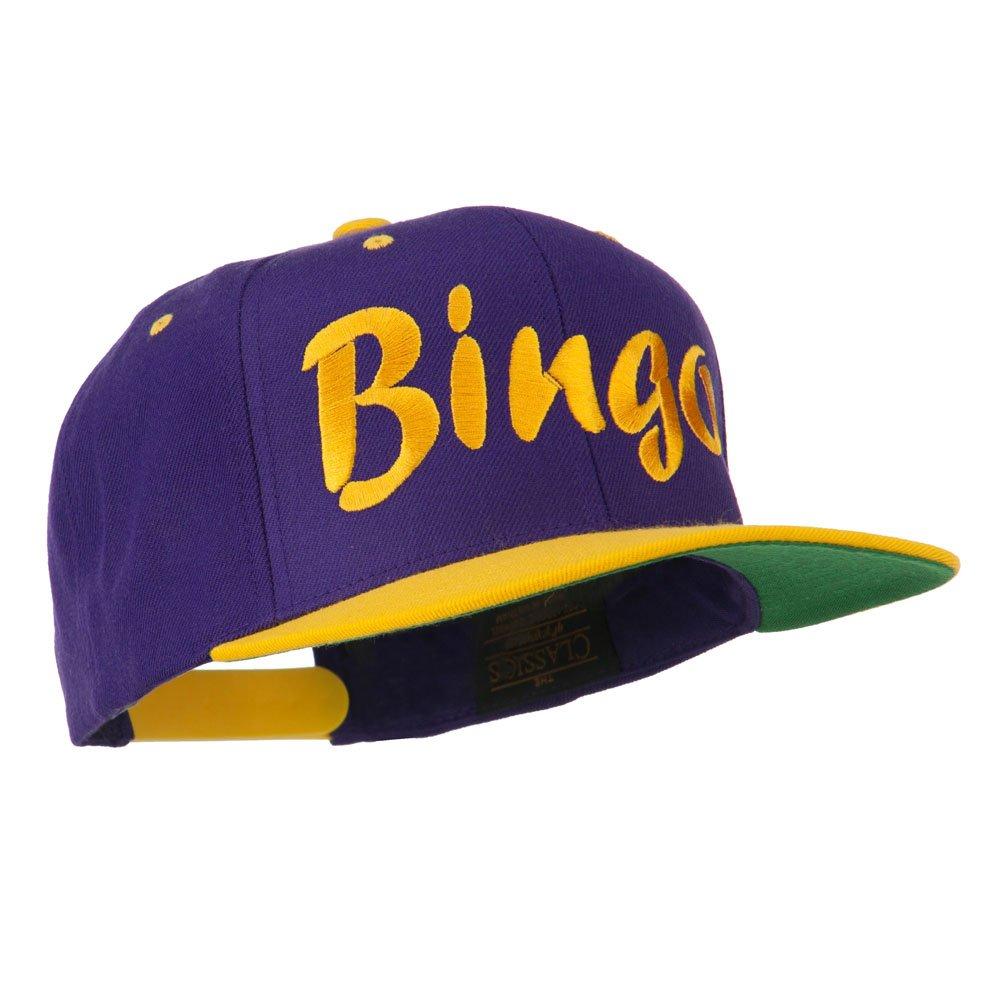 e4Hats.com Bingo Embroidered Flat Bill Cap