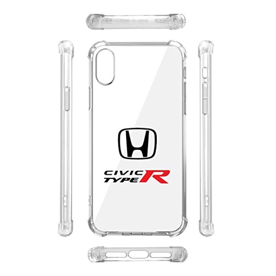 huge selection of f776d 9d8f5 Amazon.com: Honda Civic Type-R iPhone X Clear TPU Shockproof Cell ...