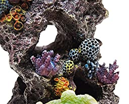 Polyresin Colorful Coral Aquarium Decoration - Item #PMTF40044 by None