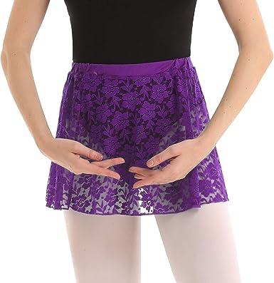 CHICTRY Falda Encaje Mujer de Danza Ballet Falda Corta Cintura ...