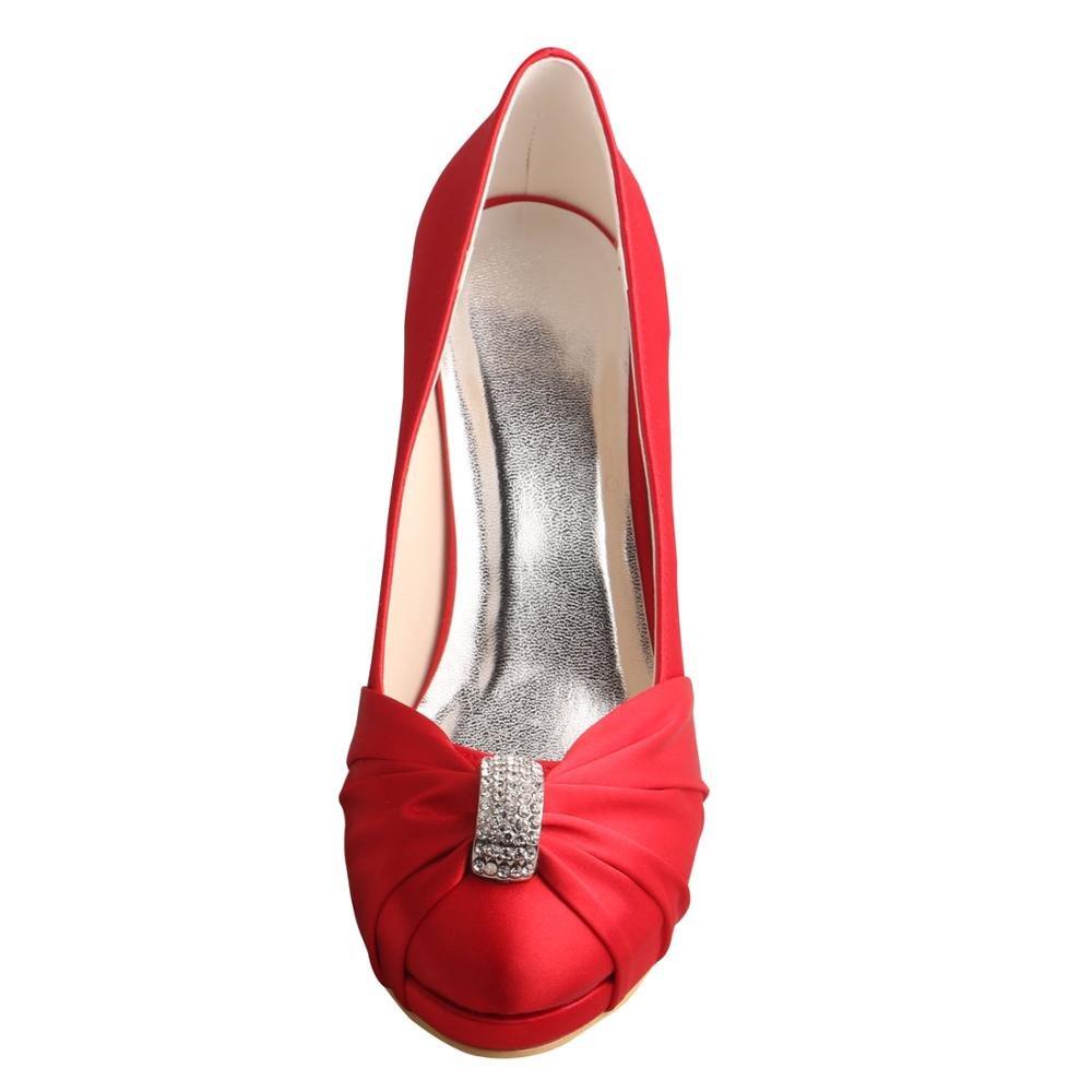 Wedopus ,  Damen Keilabsatz Durchgängies Plateau Sandalen mit Keilabsatz Damen  Rot 0c53ce