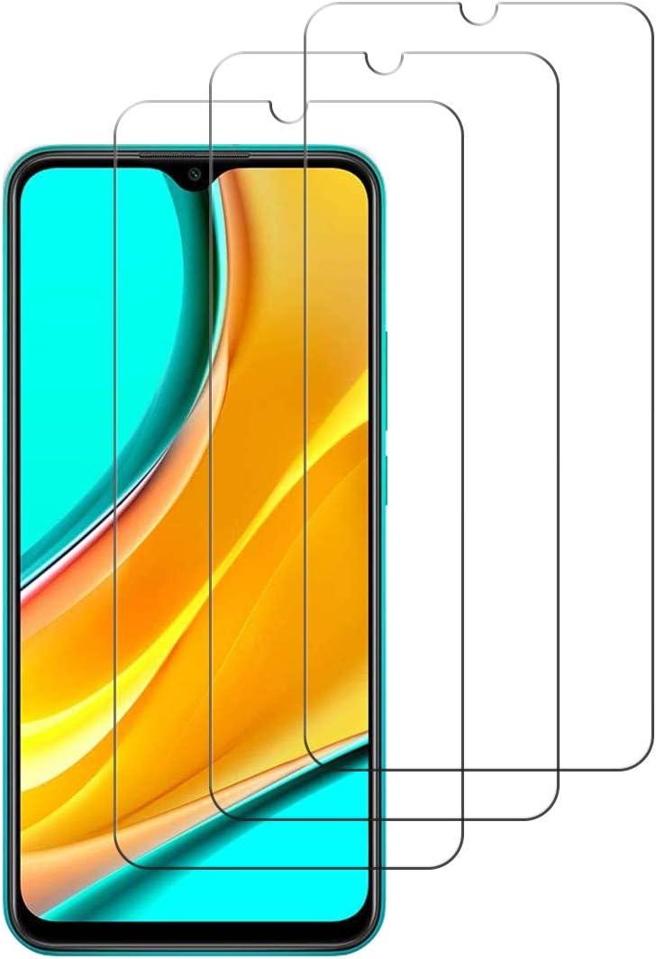 iDolix [3 Unidades] Protector de Pantalla para Xiaomi Redmi 9,Cristal Templado para Xiaomi Redmi 9 9H Dureza,Alta Definicion,Sin Burbujas - Transparente