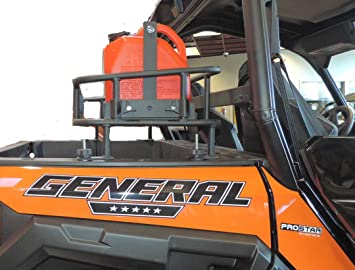 hornet outdoors g 1000 polaris general rear cargo rack steel powder coated made in usa