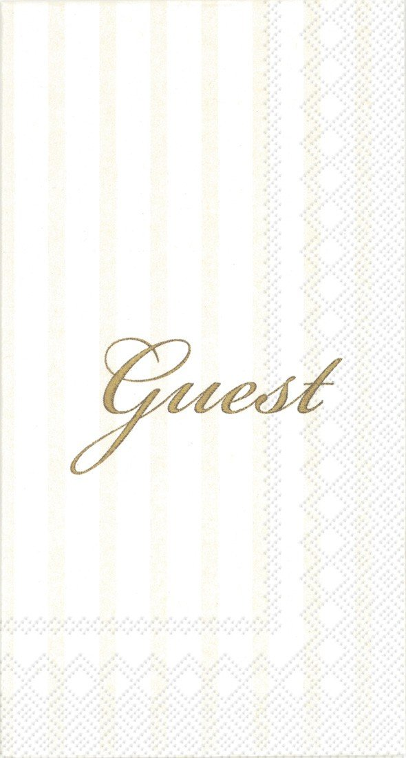 Ideal Home Range 16 Count 3 Ply Guest Paper Towel Napkins, Gold