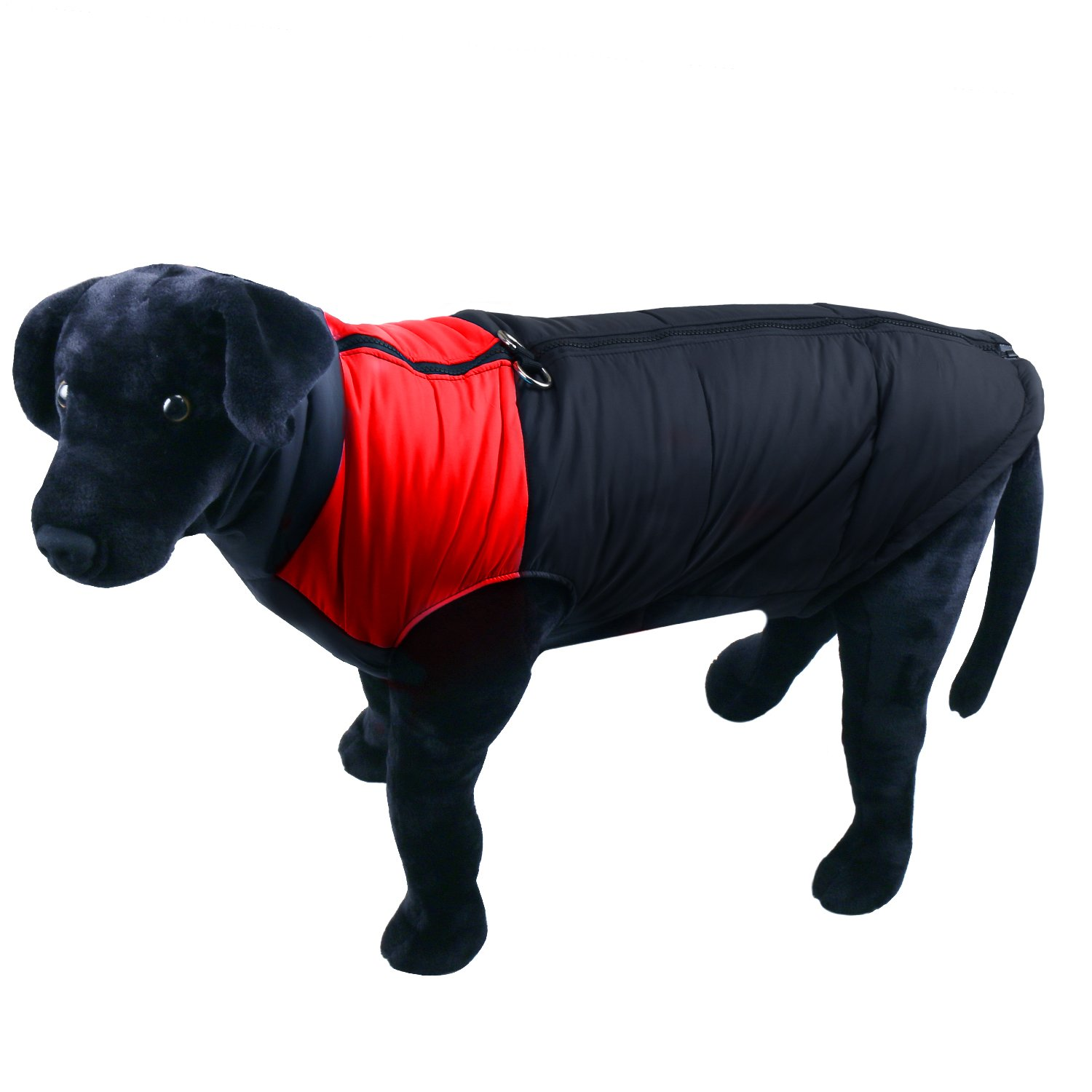 Red L-L(Chest 25.1\ Red L-L(Chest 25.1\ RilexAwhile Dog Warm Jacket, Ultra Light Soft Waterproof Windproof Thickening Cotton-Padded Winter Dog Coat Dog Rain Jacket Vet with One-Zip Setup for Large Dog (L-L(Chest 25.1 ), Red)