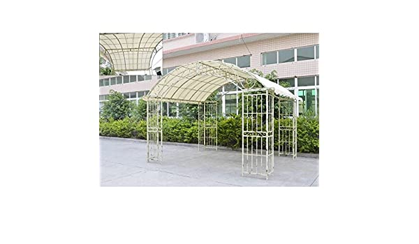 Gran carpa couverte Kiosko de jardín pérgola refugio Rectángulo ...