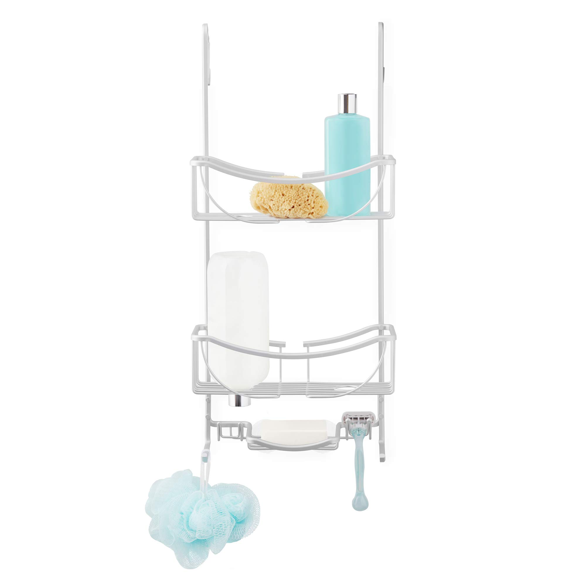 Better Living Products 13634 VENUS 3-Tier Over the Shower Door Caddy, Grey by Better Living