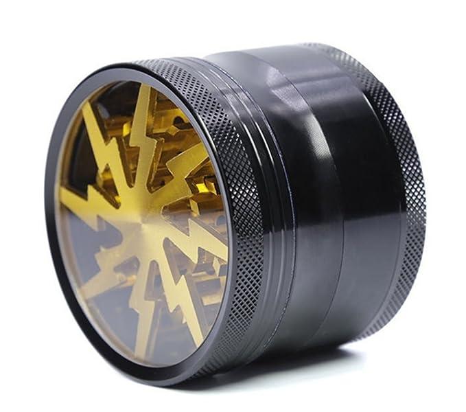 GAOWE Patrón De Hoja De Aleación De Aluminio Amoladoras Pegatinas De Plástico Manual De Amoladora De Tabaco Detector De Humo Portátil Caja De Tabaco De ...