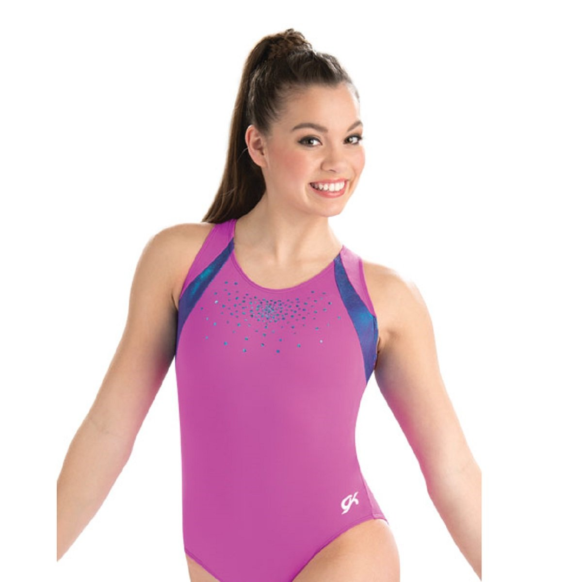GK Elite Gypsy Laser Cut Leotard Child Medium CM by GK Elite