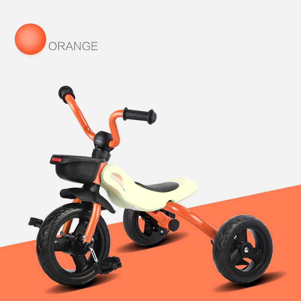 XQ 子供の三輪車2-3-5-6歳の赤ん坊の幼児の自転車折りたたみ自転車自転車 子ども用自転車 ( 色 : オレンジ ) B07CG7CD65 オレンジ オレンジ