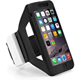 iPhone 6s Armband, iPhone 7/8 Armband, TSCASE Universal Sweat Resistant Sports Armband for iPhone 6 / 6s / 7 Case Soft Silicone Phone Case with Key and Card Slot for Exercise Gym Sportband 4.7 Inch, Black