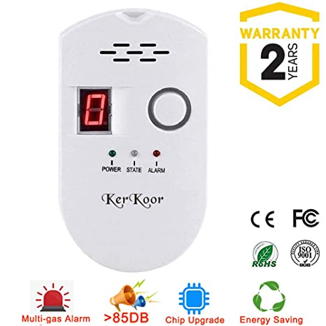 KerKoor Gas Leak Detector-1 Natural Gas Alarm Detector For Home Gas Tester Propane Smart Gas Detector Electronic Sniffer Pen Plug-In Gas Detector For ...