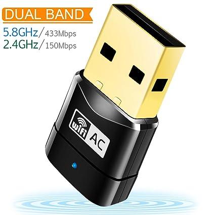 WiFi Adapter AC600 Wireless USB Adapter 5G/2 4G Dual Band Network Lan Card  802 11ac Mini USB WiFi Dongle Adapter Mailiya Wireless Network Adapter