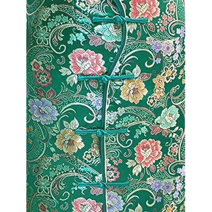 4138fc58d ... 7Fairy Women's Vtg Green Ten Buttons Long Chinese Dress Cheongsam ...