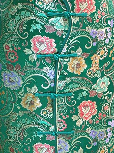 7Fairy Women's Vtg Green Ten Buttons Long Chinese Dress Cheongsam Size 4 US by 7Fairy (Image #3)