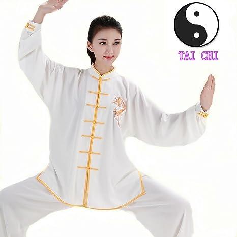 Home Chinese Tai Chi Clothes Martial Arts Suit Taiji Outfit Wushu Uniform Qigong Garment For Women Men Girl Kids Boy Adults Unisex 100% Original