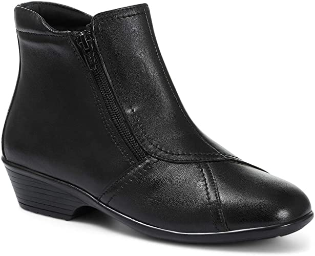 Pavers Wide Fit Leather Ladies Ankle