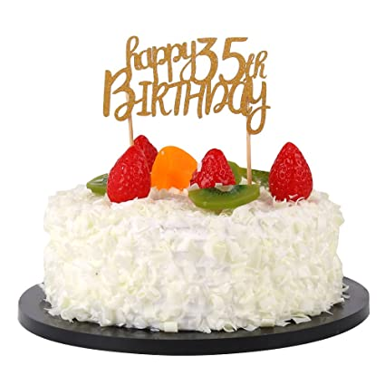 Amazon Sunny ZX Happy 35th Birthday Cake Topper