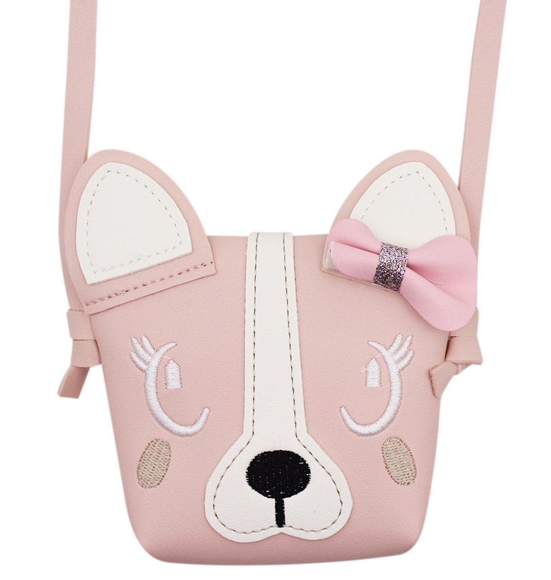 Bags us Fashion Cute Dog Bowknot Single Shoulder Bag Coin Purse Small Crossbody Satchel handbags Wallet