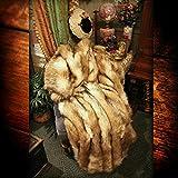 Brown Orange Fox Faux Fur Throw Blanket with Minky Cuddle Fur Lining Plush Soft Luxury Fur (5'x8')