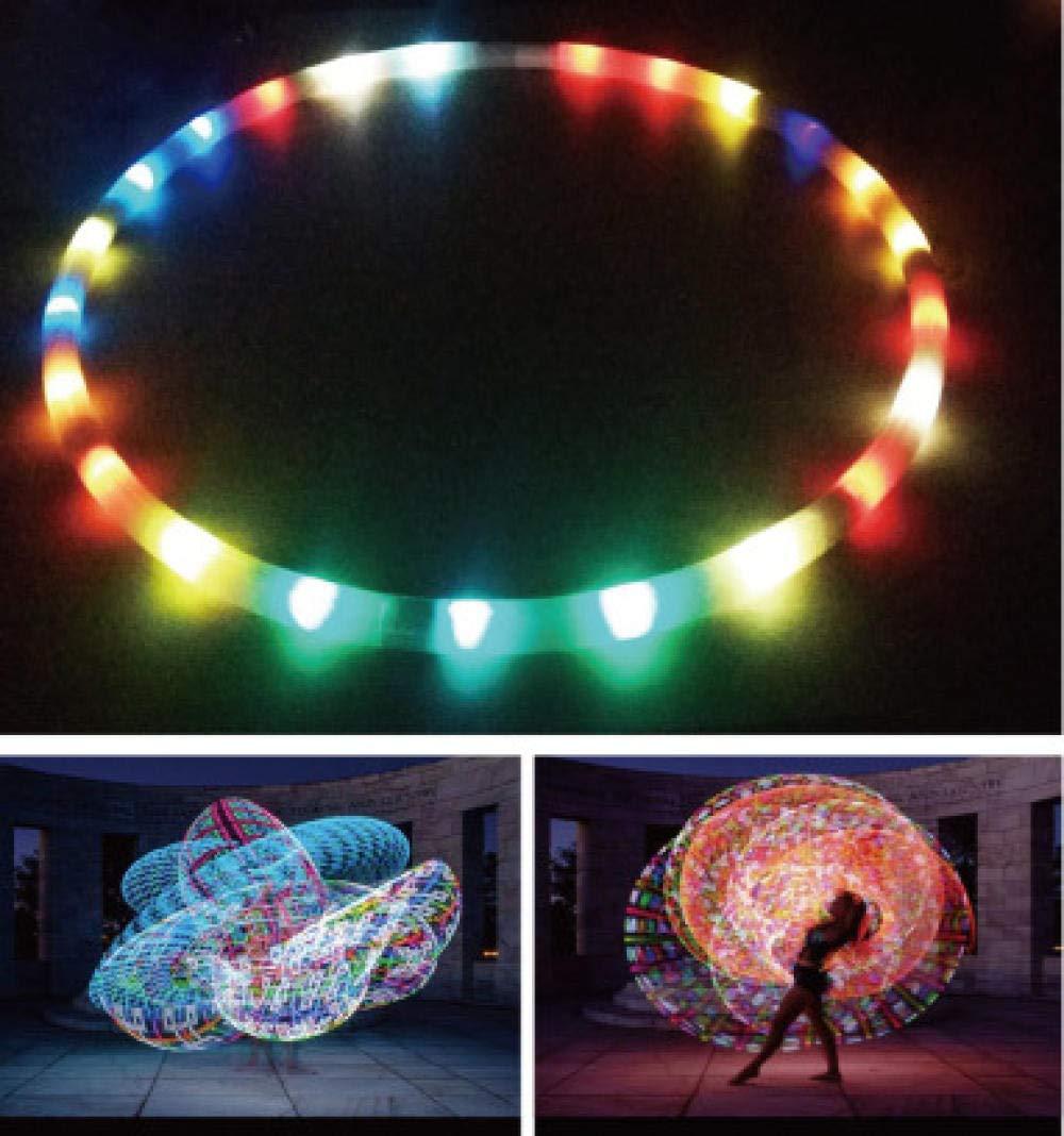 Start/—sports Fitnessreifen,LED-Licht Hula-Hoop Fitness Gewichtsverlust Bauch Bunte Lichter /ändern Akrobatik Zirkus Leistung Requisiten 8 Festival Abnehmbar