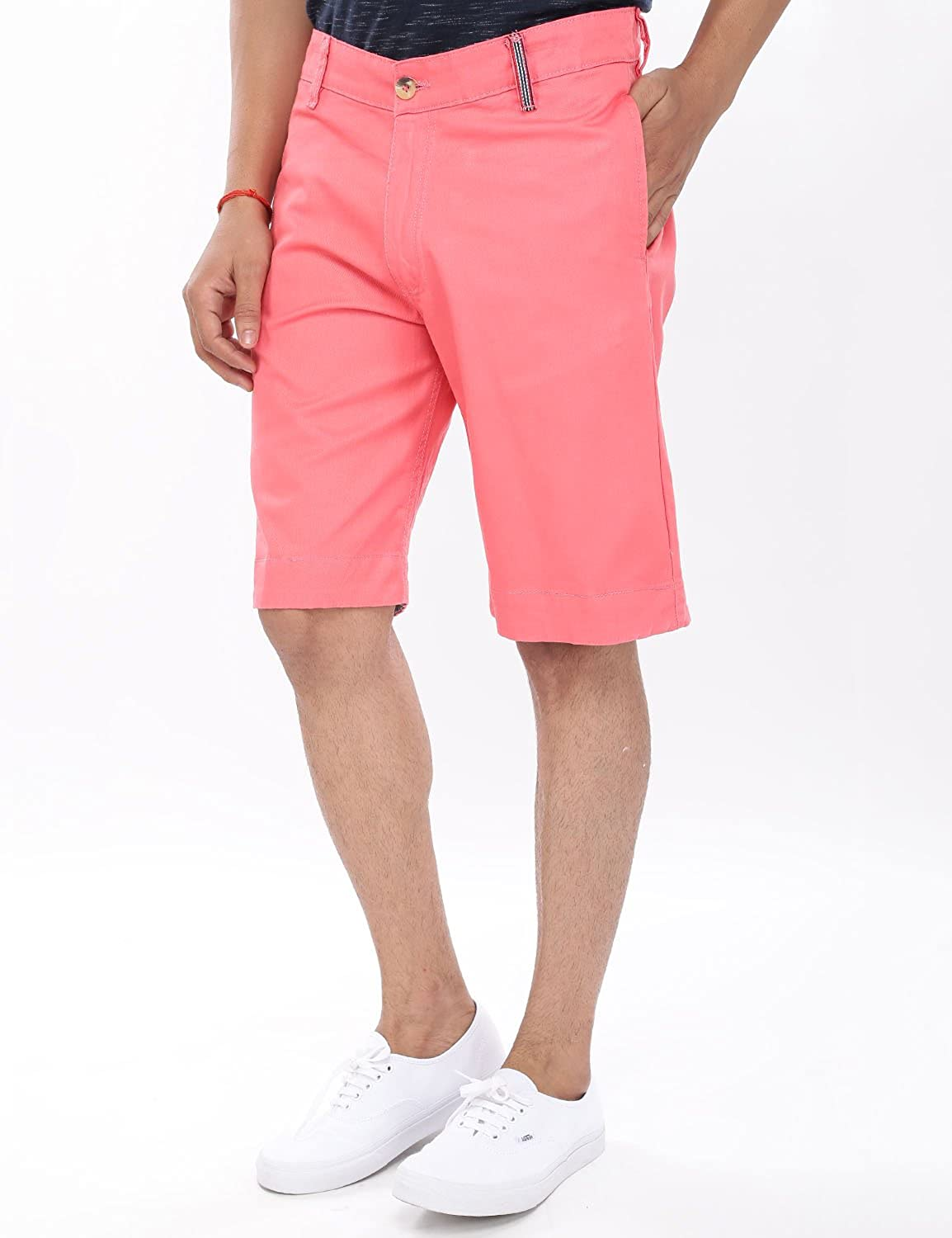 f77f7383 VIVEZA Men Solid Pink Shorts: Amazon.in: Clothing & Accessories