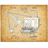Bulldozer - 11x14 Unframed Patent Print - Art for Boy's Room