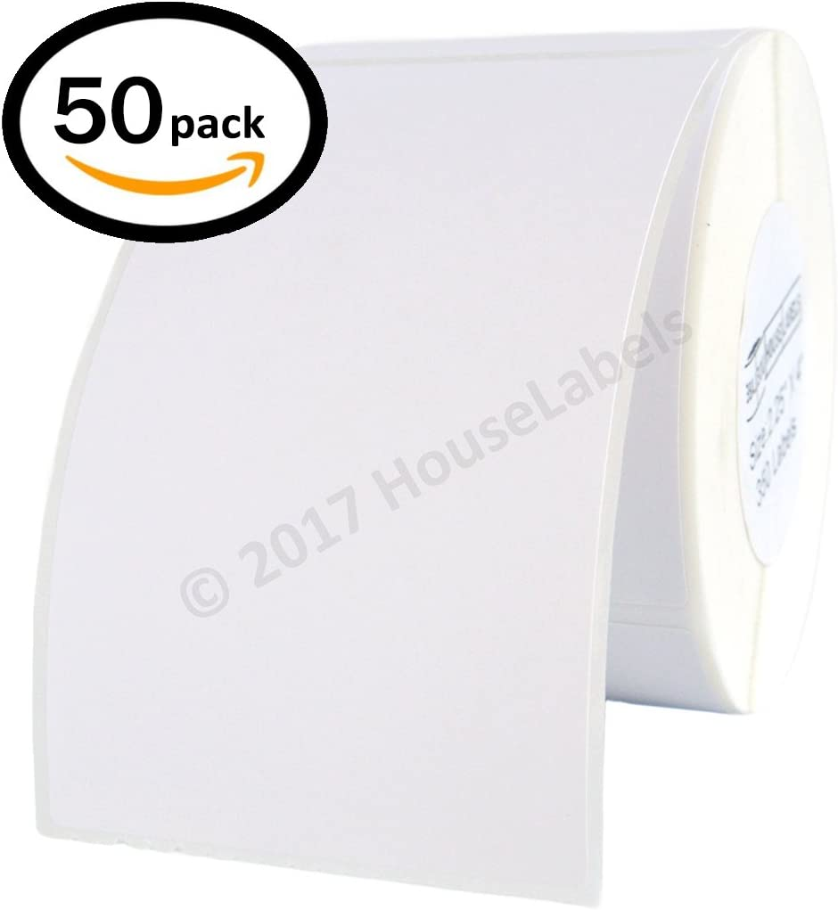 """2 1//4/"""" X 4/"""" Direct Thermal Labels Shipping /& Perforated 12 Rolls, 350//Roll"""