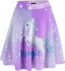 be558e2315e96 CowCow Women's Unicorn Fashion High Waist Skirt/A-Line Skater Skirt, XS-