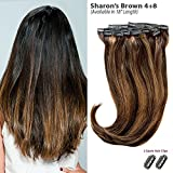 Sharon's Brown Balayage (4+8) Clip in Hair Extensions - 100% Remy Human Hair by Estelle's Secret