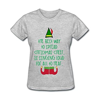 yhdjk womens best way to spread christmas cheer t shirt grey l