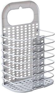 Krystal_wisdom Folding Laundry Basket Dirty Clothes Storage Washing Bag Hamper Home Organizer Home Laundry Basket Storage Bag,Gray,