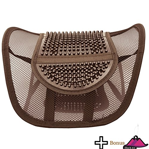 Lumbar Mesh Back Support by FOMI Care | For Car, Office Chair, Home | Alleviates Lower Back Pain, Promotes Healthy Posture, Corrects Spinal Alignment | Breathable, Massage Beads for Ultimate Comfort (Pillow Sacral Support Lumbar)