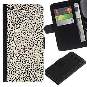 All Phone Most Case / Oferta Especial Cáscara Funda de cuero Monedero Cubierta de proteccion Caso / Wallet Case for Samsung Galaxy S3 III I9300 // Beige Spots Nature Animal Abstract