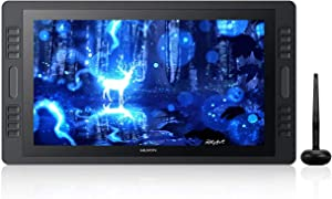 HUION KAMVAS Pro 20 2019 Upgraded Graphics Drawing Monitor Tablet with Full Laminated Screen 19.5inch Pen Display with Battery-Free Stylus Tilt 16 Express Keys 2 Touch Bars- Stand Included