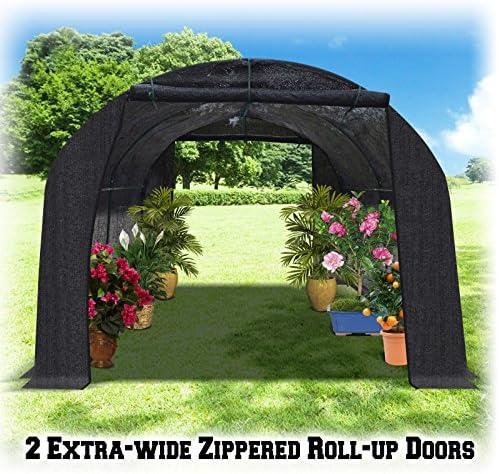 BenefitUSA Black Hot Greenhouse Large Walk-in Outdoor Plant Gardening 20 X10 X7