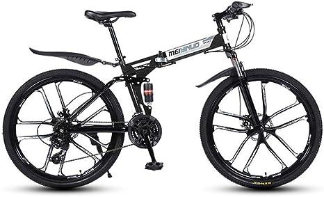 WGYEREAM Bicicleta de Montaña, Bicicletas de montaña Plegable ...