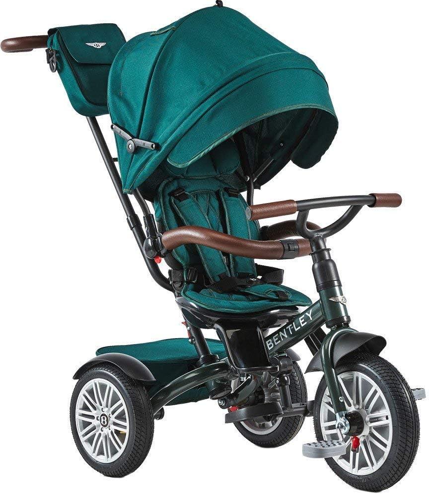 Bentley Triciclo Evolutivo Licencia Triciclo con Asiento Giratorio y Capota, Incluye Bolso - Triciclo para bebés a Partir de 12 Meses (Spruce Green)