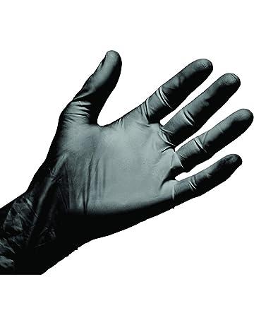 4639addb04c07 LCH Gants Nitriskin en Nitrile Noir Sans Latex et Non Poudrés - Très Bonne  Tolérance -