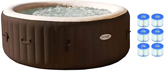 Intex PureSpa 4 Person Inflatable Jet Spa Hot Tub 29001E S1 Filters 6 Pack