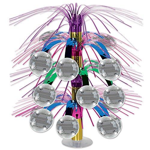 Disco Ball Centerpiece - Beistle 54731 Disco Ball Cascade Centerpiece, 18