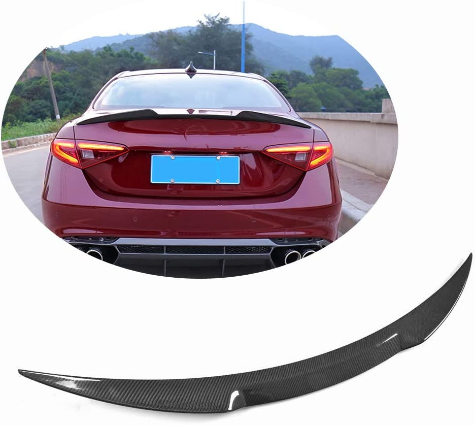 MCARCAR KIT Trunk Spoiler fits Alfa Romeo Giulia Quadrifoglio Sedan 2015-2019 Factory Outlet Carbon Fiber Rear Tail Lip Deck Boot High End Wing